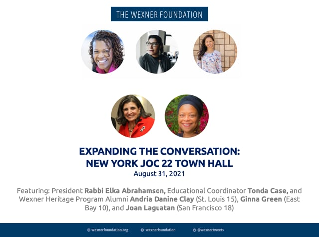 Expanding the Conversation: New York JoC 22 Town Hall