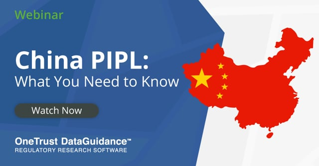 China PIPL What You Need to Know