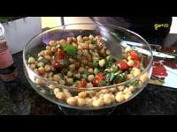 Sabores do Afeto - Salada de grão de bico com molho de mostarda e melado