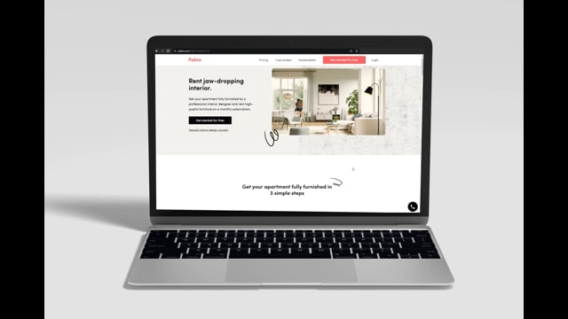 Live in style: Web design for Pabio