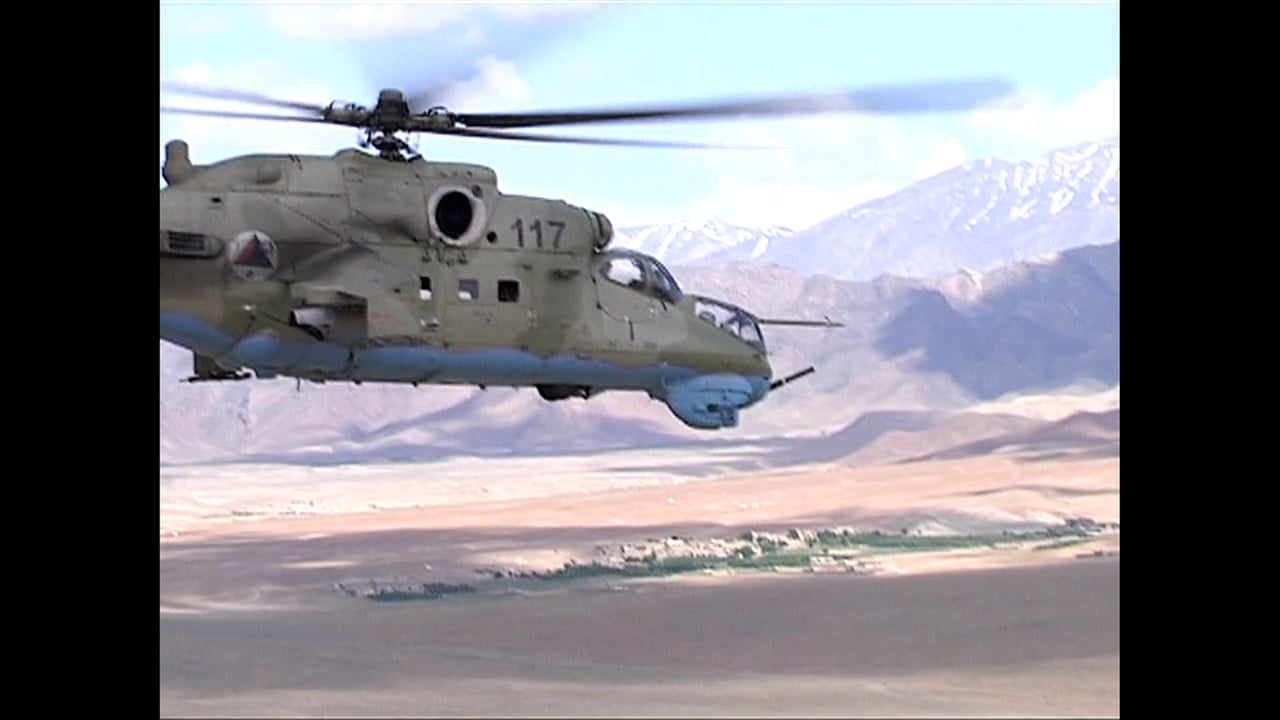 The Afghan Air Wing undertakes a Live-Fire Exercise for the Mi-24 Hind in 2010