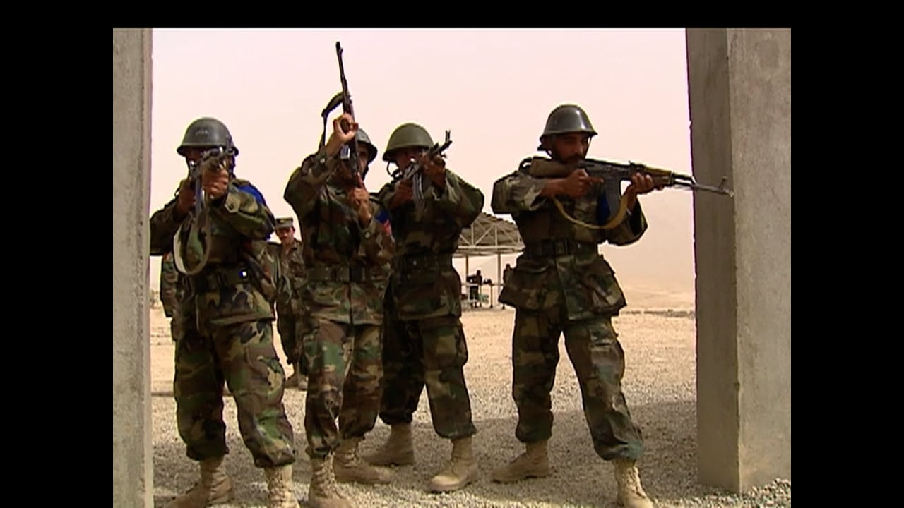 Afghan National Army Recruits undergo Training at the KMTC in August 2008