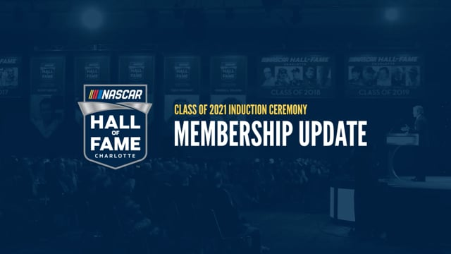 Induction Ceremony & Membership Update from Winston Kelley
