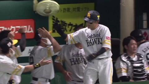 【1回裏】ホークス・牧原大 今季第1号はライトへの先頭打者ホームラン!! 2021/9/2 H-E