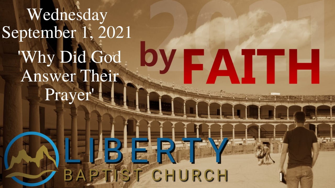 Wednesday in the Word, 'Why Did God Answer Their Prayer'