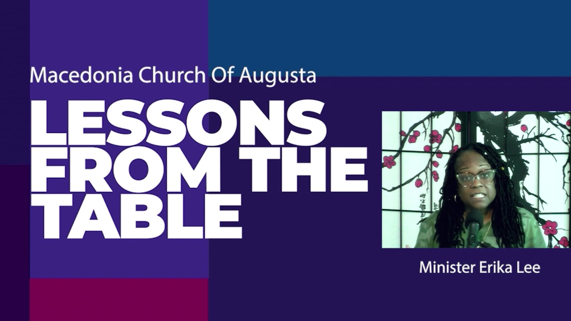 Lessons From The Table 09/04   A Conquering Faith