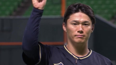 バファローズ・山本投手ヒーローインタビュー 9/3 H-B