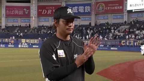 マリーンズ・佐々木投手ヒーローインタビュー 9/3 M-F