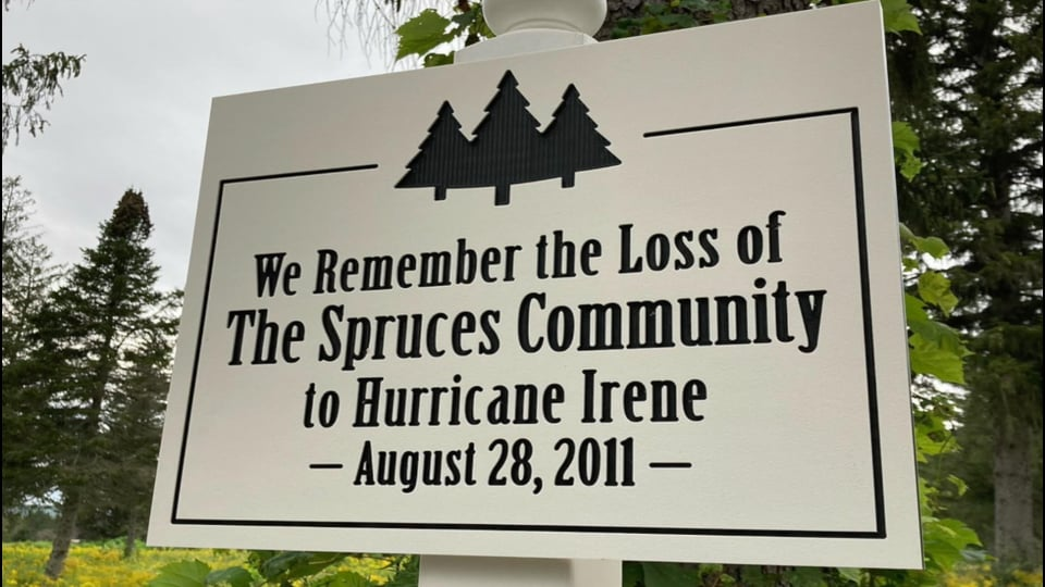 Remembering The Spruces, 10 years after Irene, 8.28.21