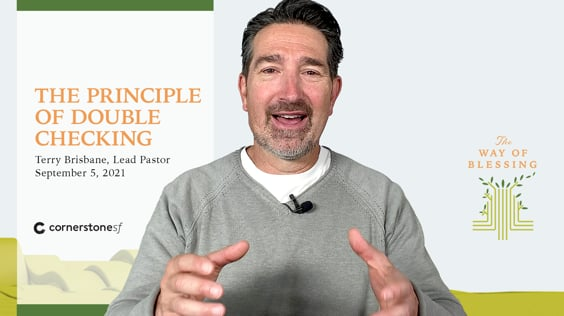 THE PRINCIPLE OF DOUBLE CHECKING | CornerstoneSF Online Service