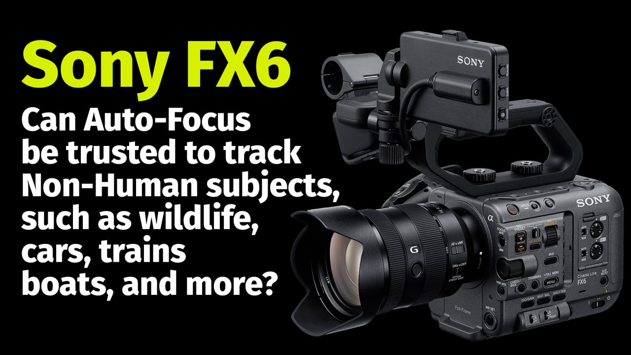 Sony FX6:  Can Auto-Focus be trusted to track Non-Human subjects?