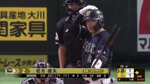 【2回表】バファローズ・若月 勝ち越しのタイムリー2ベースヒット!! 2021/9/4 H-B