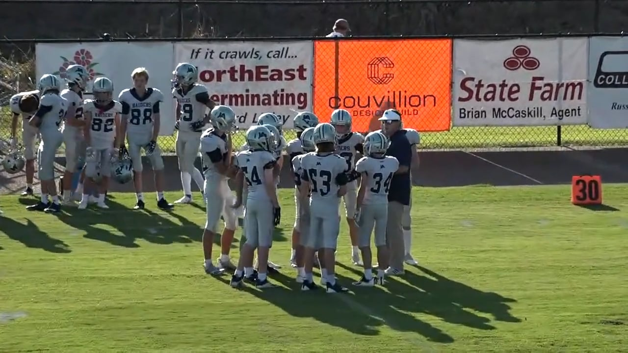 B Team Football vs Starkville Academy - 09-02-21