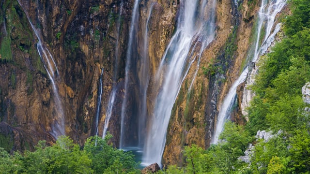 4K Astonishing Waterfalls – Falling Water Sounds and Birds Songs Mixed with Ambient Music – Part #2