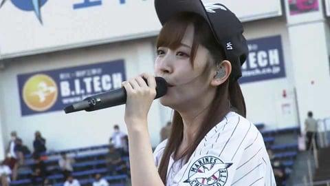 歌手でモデルの鈴木愛理さんが試合前にミニライブ開催!! 2021/9/5 M-F