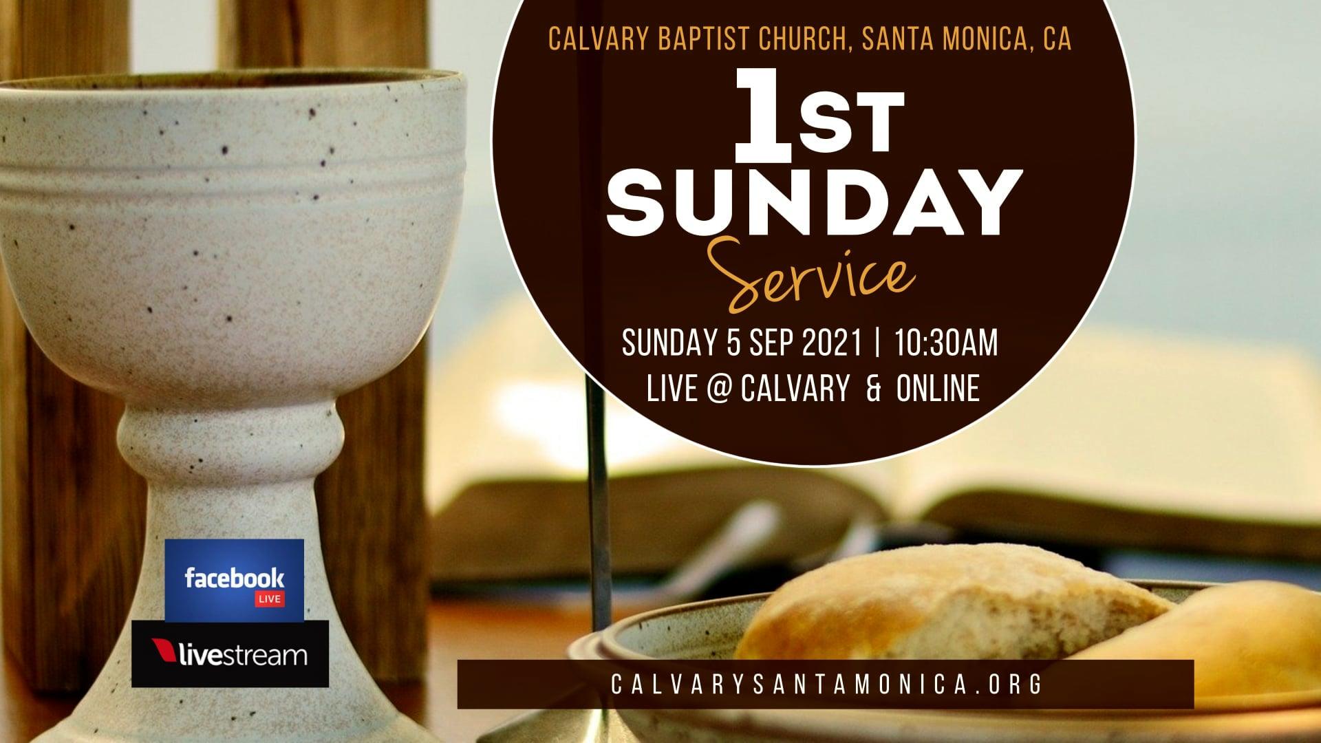 09.05.21 Calvary Baptist Church Worship Service