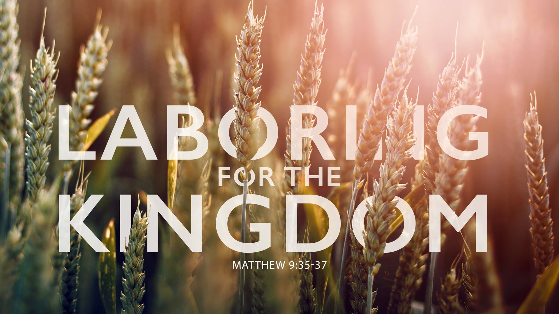 9/05/2021 | Laboring For The Kingdom |  9:30 AM