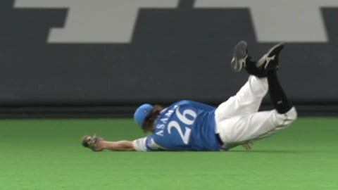【2回表】ファイターズ・淺間がダイビングキャッチ!! 2021/9/7 F-E