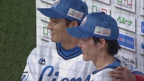 ライオンズ・源田選手・栗山選手ヒーローインタビュー 9/7 L-H