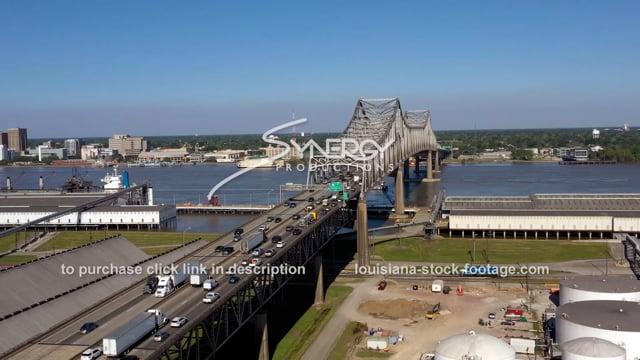 2994 Baton Rouge traffic jam video aerial