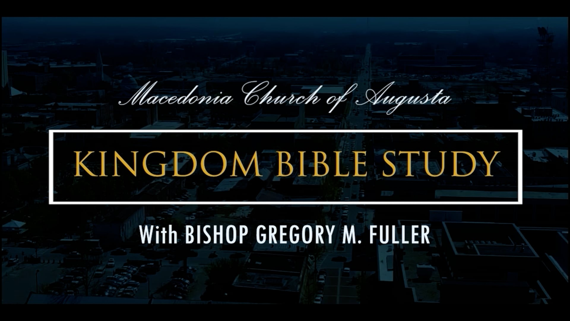 Bible Study 09/08   Living In The Kingdom
