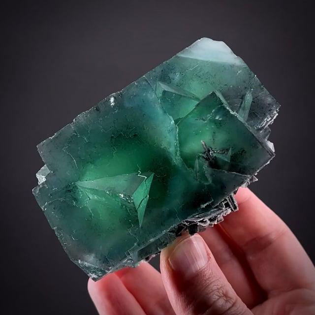 RARE Fluorite w/ Hubnerite & Quartz (Chet Lemanski Coll.)
