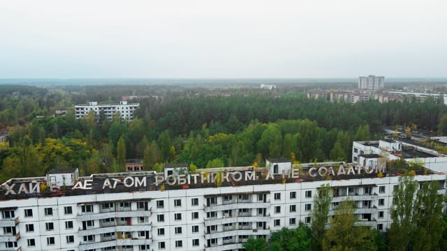Aerial View of Chernobyl Exclusion Zone, Ukraine - 4K Drone Footage about Abandoned City