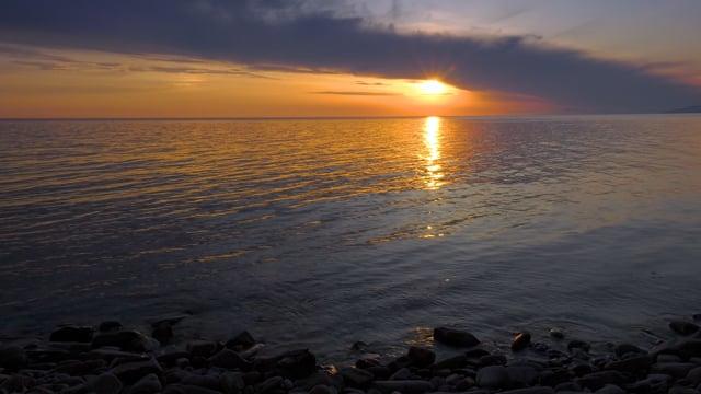 Fascinating Sunset over the Black Sea, Krasnodar Region