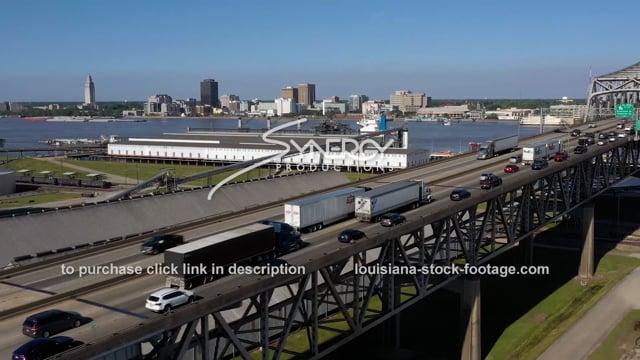 2989 Port of Baton Rouge and bridge Mississippi River
