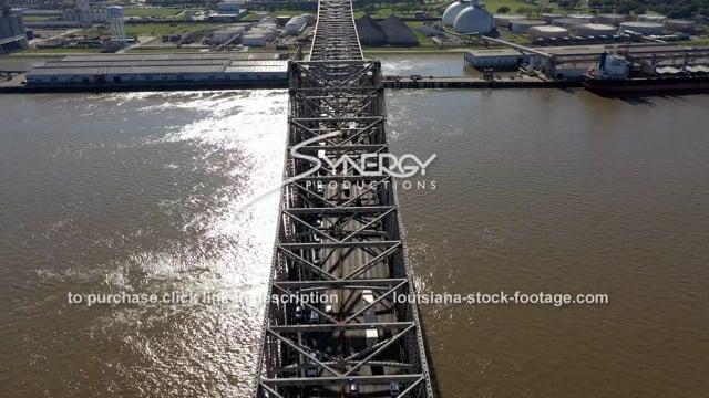 2991 epic aerial Port of Baton Rouge on Mississippi River
