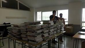 Socialització de llibres a l'Institut