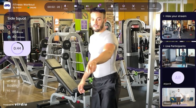 Virdio - Augmented Reality and Virtual Hybrid Fitness - Live Action (:30-sec. Cutdown)