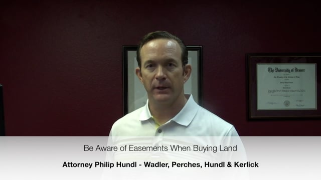 Be Aware of Easements when Buying Land in Texas - Attorney Philip Hundl