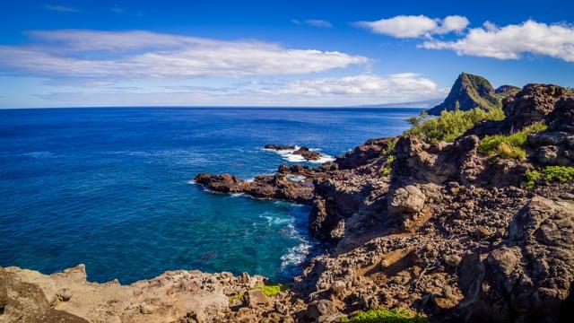 Maui Island from Above, Hawaii, USA