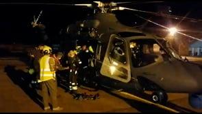 Tromba d'aria a Pantelleria, elicottero Aeronautica Militare trasporta nella notte una squadra di Vigili del Fuoco