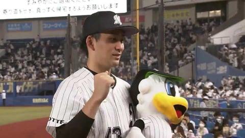 マリーンズ・小島投手ヒーローインタビュー 9/11 M-E