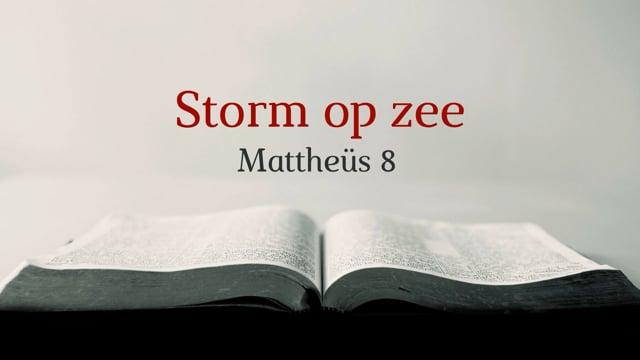 Preek Mattheus 8: Storm op zee | Ds. J. IJsselstein