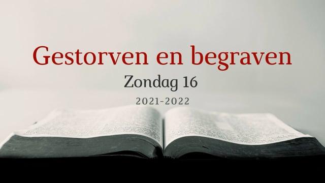 Preek Catechismus Zondag 16 | Ds. J. IJsselstein