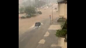 Alluvione a Soverato, gravi allagamenti nelle strade