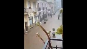 Alluvione a Soverato, strade allagate