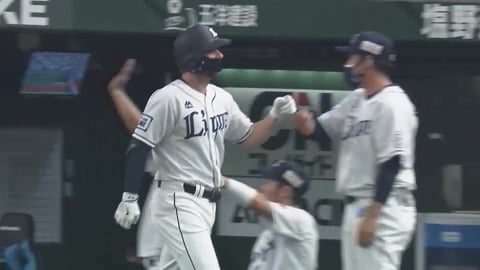 【2回裏】ライオンズ・スパンジェンバーグが2試合連続のホームランを放ち先制!! 2021/9/12 L-B