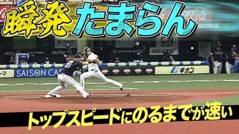 【瞬発たまらん】ライオンズ・源田『トップスピードに乗るのが速い』