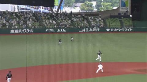 【8回裏】好守光る!! バファローズ・小田がレフトフライをスライディングキャッチ!! 2021/9/12 L-B