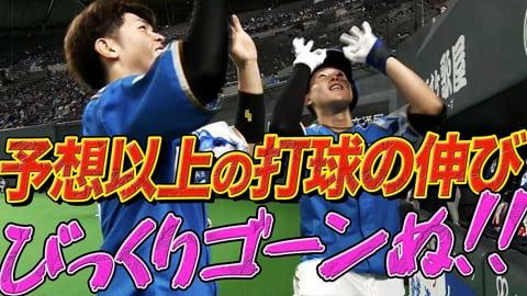 【最速ゴーンヌ】ファイターズ・高濱 チームトップの8号ソロホームラン