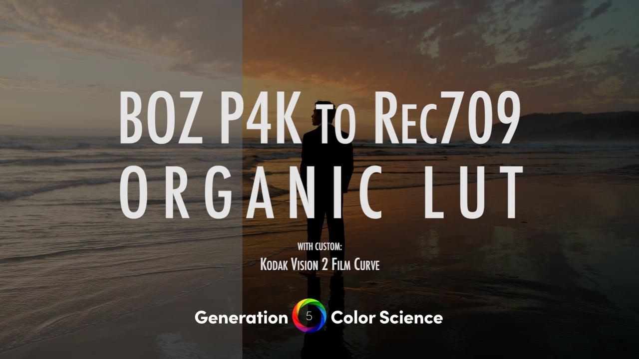 BMPCC 4K, 6K & Ursa 12k Natural Rec709 LUT for Gen 5 Color Science
