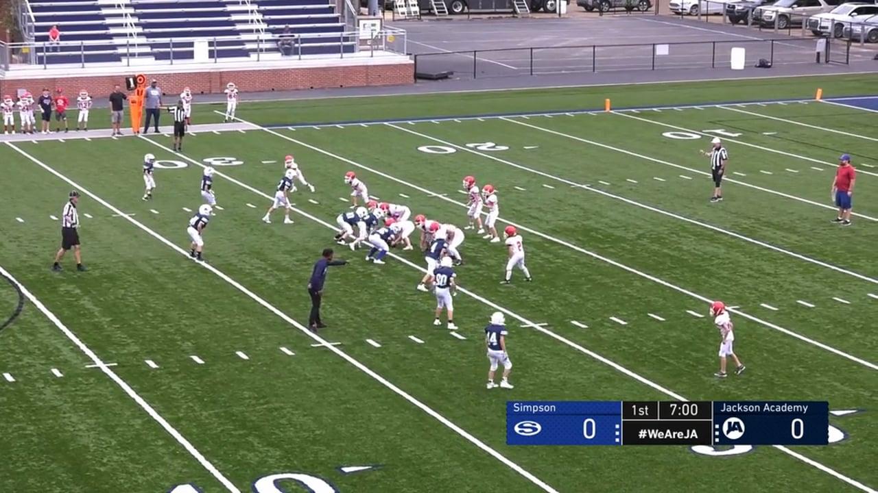 5th Grade Football vs Simpson - 09-13-21