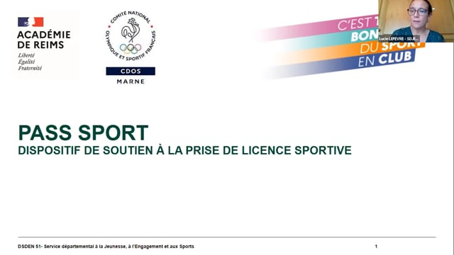 Présentation du Pass Sport
