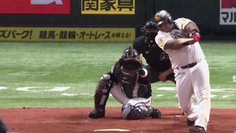 【4回裏】ホークス・デスパイネ 久々の一発は貴重な同点弾!! 2021/9/15 H-M