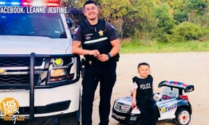 Officers Show Love to Fallen Camrade's Son!