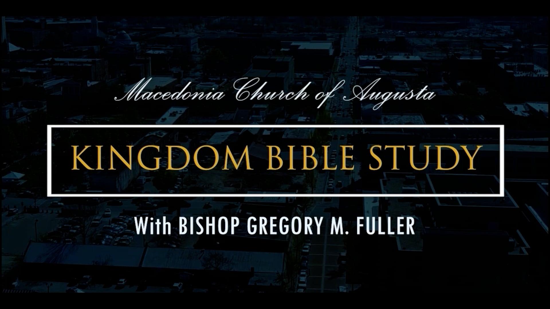 Bible Study 09/15   The God Kind Of Faith